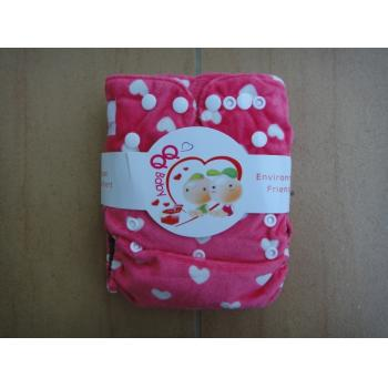 QQ Baby Snazzy Minky Pockets: Pink White Heart