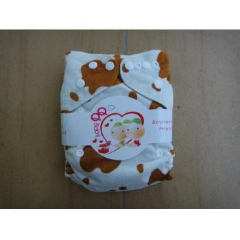 QQ Baby Snazzy Minky Pockets: White Brown Cow