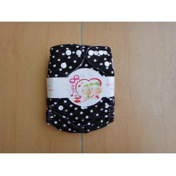 QQ Baby Snazzy Minky Pockets: Black  White Dot