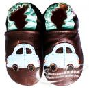 HELLOYAYA Genuine Leather Infant Shoes 全软底学步鞋★Brown Car 小轿车