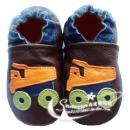 HELLOYAYA Genuine Leather Infant Shoes 全软底学步鞋★Brown Fire Truck  棕消防车