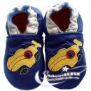 HELLOYAYA Genuine Leather Infant Shoes 全软底学步鞋★Blue Racing Car 蓝赛车
