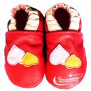 HELLOYAYA Genuine Leather Infant Shoes 全软底学步鞋★Red Love 红双心
