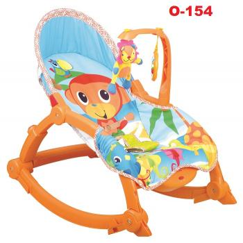O-154: Newborn to Toddler Rocker - with rattle on Lion toys (Orange)**East Malaysia need pay postage fees RM 50