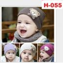 H-055 :Korean Style baby bear pattern hat - B (R)