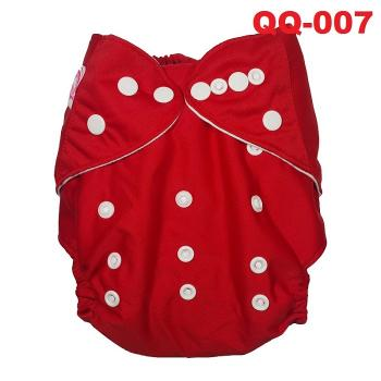 QQ-007 Baby Snap Pockets: Red -- 28