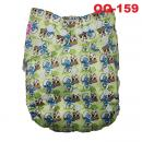 QQ-159: QQ Baby Printed Design - Pale Yellow smurf cake -- 30