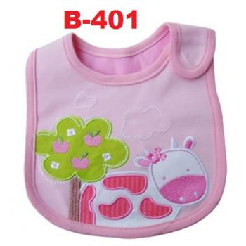 B-401: Cute Embroidery Baby Bib --29/1