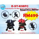 E-ST-K98FC Travel System Two Way Stroller with Infant Car Seat ( **East Malaysia need pay postage fees RM180** )