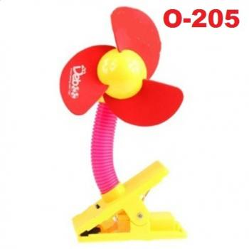 O-205: Deboo Clip-on Fan with USB Cable (Red) -- 29A (R)