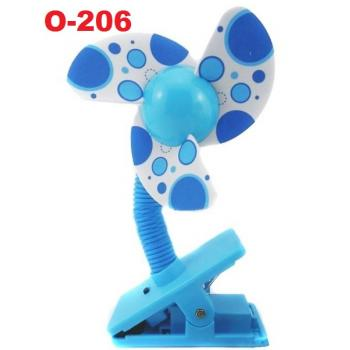 O-206: Deboo Clip-on Fan with USB Cable (Polka Dot Blue) -- 36