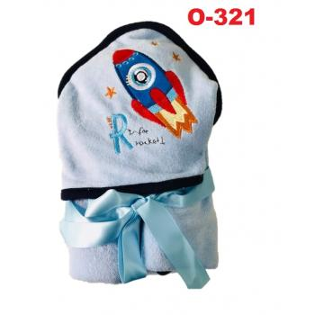 O-321: Baby Hooded Towel --    (R)