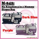 M-042: My Kingdom 5 in 1 Mummy Diaper Bag