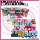 S-MK-58 : My Kingdom Sock 3 in 1( NON CHOOSE DESIGN )  --  25/2