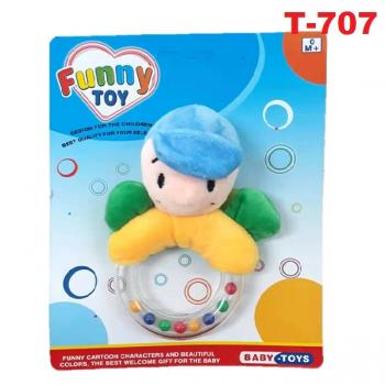 T-707 : Baby Animals Hand Rattles with bell - Turtle -- 6/1