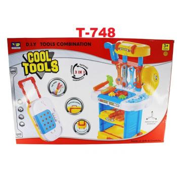 T-748: Cool Tools 3 in 1 Playset -- 9/1