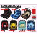 E-CS-MK-LM389: Stylish 3 in 1 Infant Baby Car Seat ( **W/M'Sia postage RM10/unit, E/M'Sia postage fees RM60** )