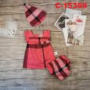C-15368: Baby Dress 3pcs Set - R2 / NWH